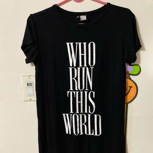 Black H&M long t-shirt.